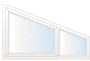 fenêtre trapèze composé