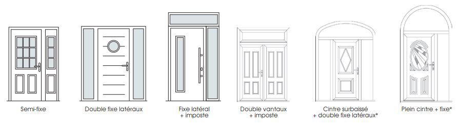 les portes d 39 entr e sy pe en bois des portes d 39 entr e sur mesure. Black Bedroom Furniture Sets. Home Design Ideas