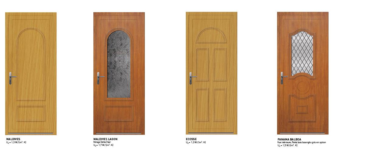 Les portes d 39 entr e sy pe en pvc des portes d 39 entr e sur - Porte d entree pvc couleur bois ...