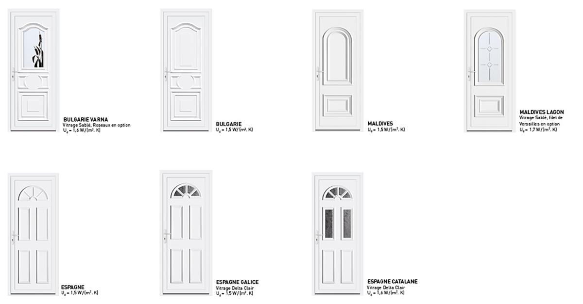 les portes d 39 entr e sy pe en pvc des portes d 39 entr e sur mesure. Black Bedroom Furniture Sets. Home Design Ideas
