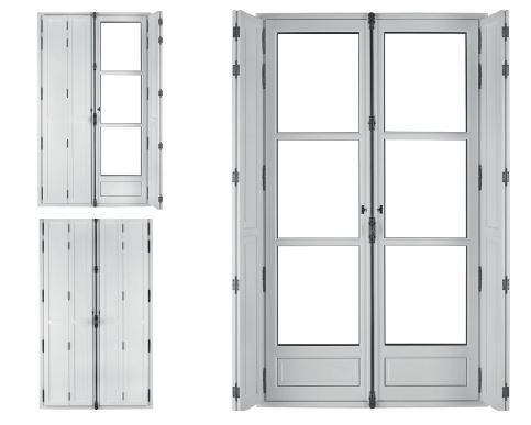 volets intérieurs des fenêtres bois syle louvre sybaie