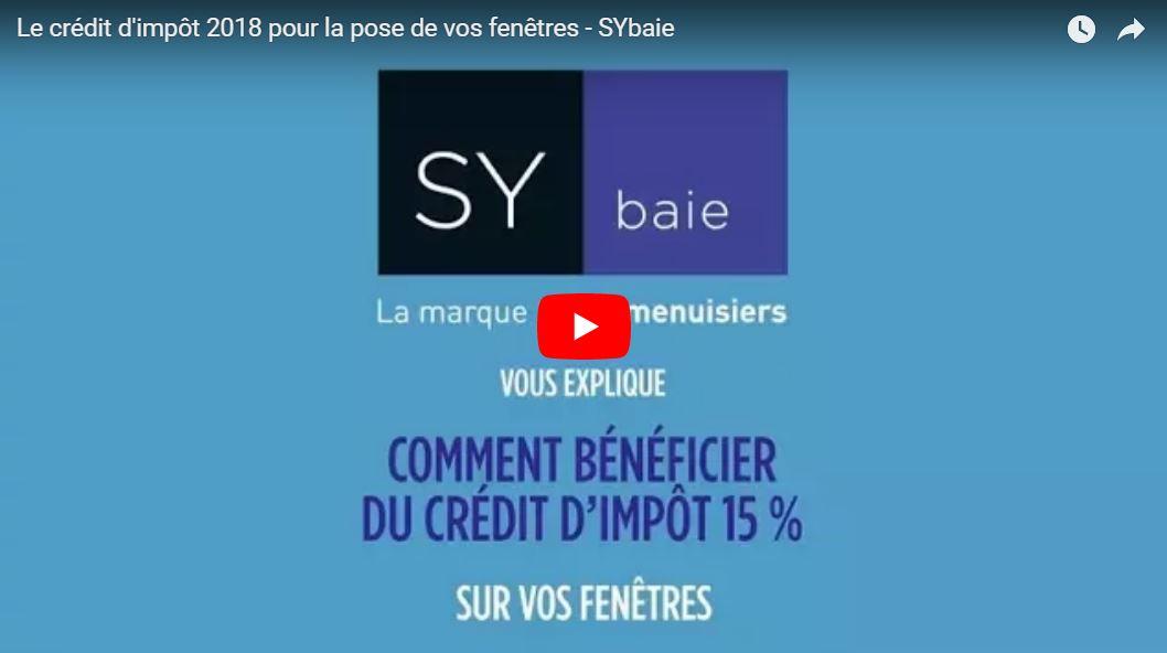 SYbaie et le crédit d'impôt pour les fenêtres en 2018