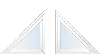 angles fenêtres à 45° gauche ou droite