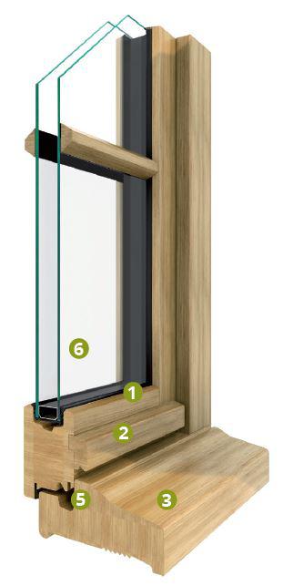 angle extérieur fenêtre bois syle beaulieu