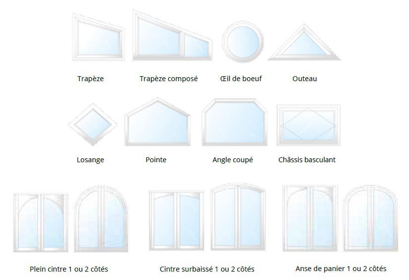 formes sur-mesure fenêtres bois sybaie