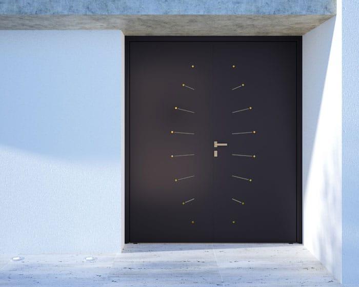 Porte d'entrée aluminium Dot