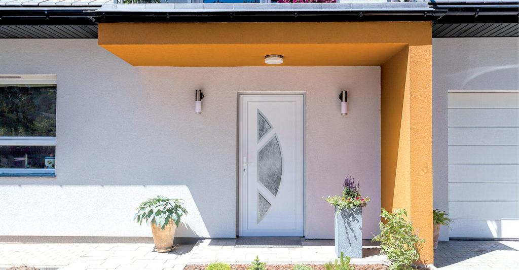 Porte d'entrée PVC contemporaine