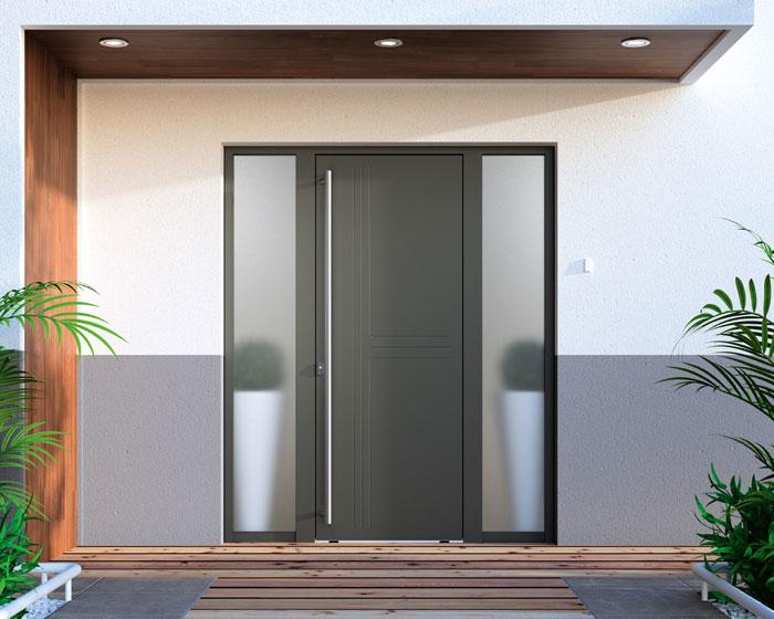 Porte d'entrée Aluminium Trio